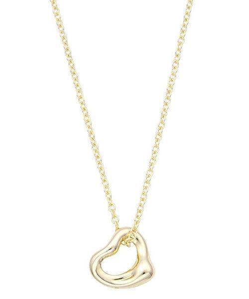 (Tiffany & Co./ティファニー)【Tiffany & Co】18Y オープン ハート ペンダント 7mm 41cm/レディース メーカー指定色