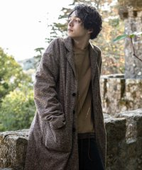 Flannel oversize chester coat