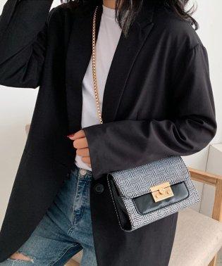 モード刺繍配色ショルダーバッグ