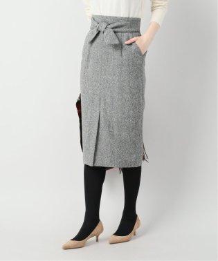 ミックスツィードリボンツキスカート