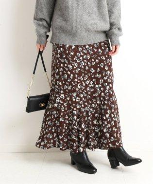 フラワーレオパードアシメマーメイドスカート◆