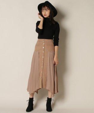 スタッズデザインサイドプリーツスカート