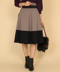GRANDTABLE(グランターブル) ウールライク配色スカート