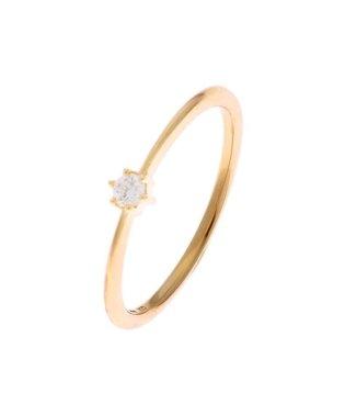 ダイヤモンド しのぎ6本爪リング