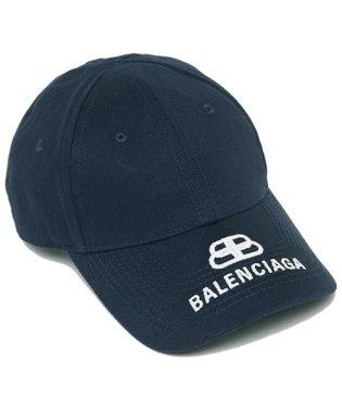 バレンシアガ キャップ BALENCIAGA 577548 310B2 4177 ロゴ刺繍 ベースボールキャップ メンズ レディース 帽子 無地 NAVY/WH