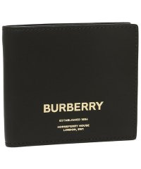 バーバリー 財布 BURBERRY 8014701 A1189 CCBILL COIN シーシービル メンズ 二つ折り財布 無地 BLACK 黒