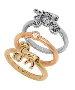コーチ リング アクセサリー アウトレット COACH F33378 MTI HORSE AND CARRIAGE RING SET レディース 指輪 セット