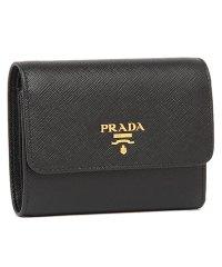 プラダ 財布 PRADA 1MH840 QWA F0002 SAFFIANO METAL ORO 三つ折り財布 NERO