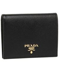 プラダ 財布 PRADA 1MV204 QWA F0002 レディース 二つ折り財布 無地 NERO 黒