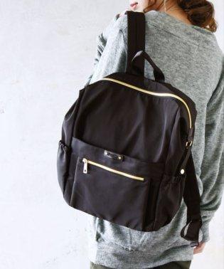 高密度ポリエステル10ポケットリュックレディース 鞄 バッグ リュック リュックサック ブラック ベージュ ネイビー ポケット ママリュック マザーズバッグ 通