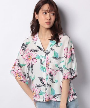 MAHINA SHIRT LINEARTROPICAL WHISPER WHIT
