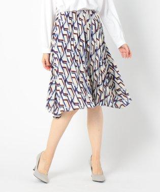 《セットアップ対応》クラシックキカ柄膝丈プリーツスカート