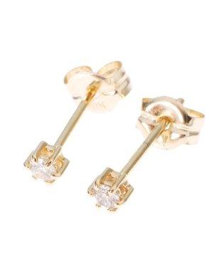 ダイヤモンド 6本爪 スタッドピアス