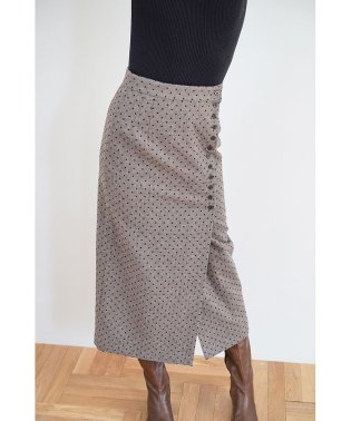WOOL DOT WRAP SKIRT