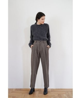 WOOL DOT SLIT PANTS