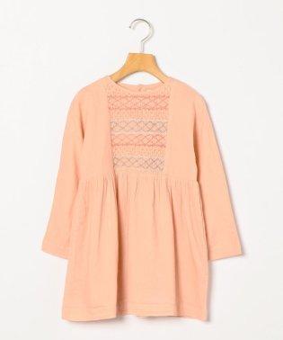 Bonheur du Jour:DRESS WITH SMOCKS CAPUCINE(100~120cm)
