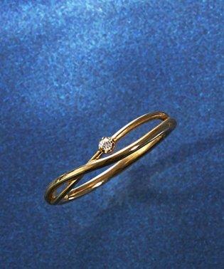 K10イエローゴールド、ダイヤモンドリング