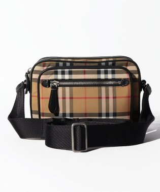 【Burberry】Vintage Check and Leather Crossbody Bag