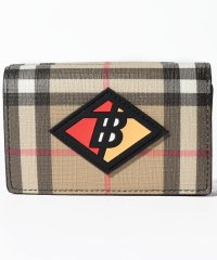 【Burberry】Small Logo Graphic Vintage Check Folding Wallet