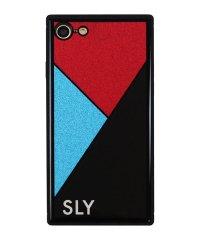 SLY [ラメ背面ガラスケース_BLACK] iPhone8/7
