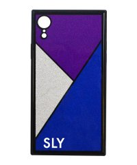 SLY [ラメガラス_BLUE] iPhoneXR