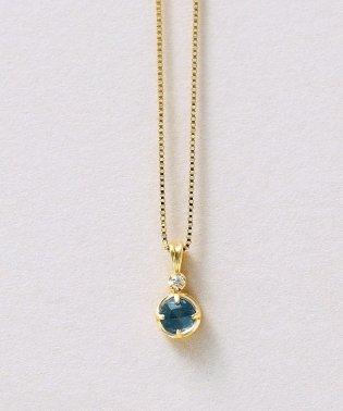 K10ブルートパーズダイヤモンドネックレス(YG)