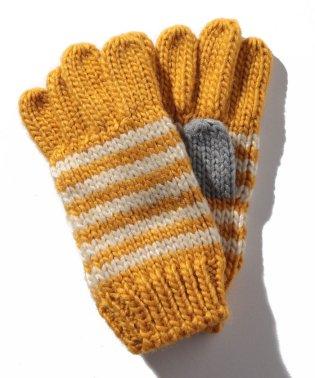 ボーダーニット手袋
