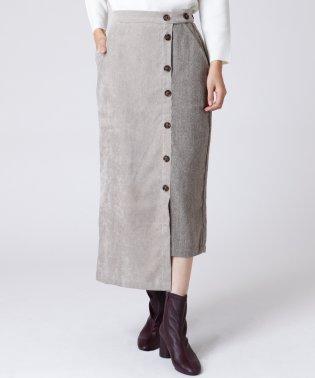 [radiate the lifedress]異素材コーデュロイスカート