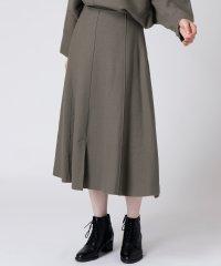 【セットアップ対応商品】[soeur7]圧縮ウール デザインスカート