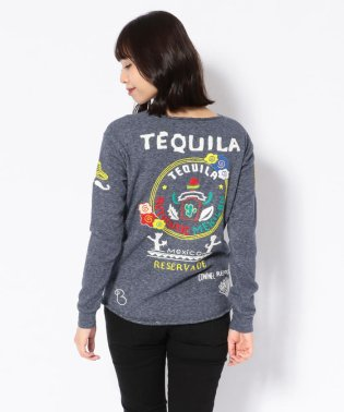 【RAWLIFE限定】birdog/バードッグ/hand embroidery cut&sewn -TEQUILA-/手刺繍カットソー -TEQUILA-