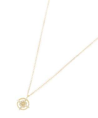 K18ダイヤモンド 透かしフチミル ラウンドネックレス