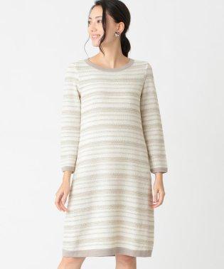 【WEB限定】【Tricolore】ラメボーダードレス