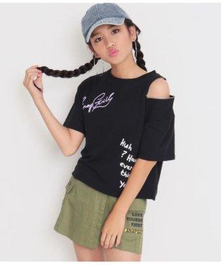 リングZIP付ワンショルダービッグTシャツ