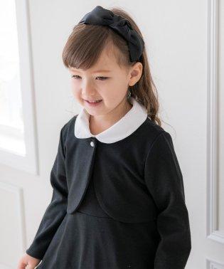 白襟付き半袖ワンピース&ノーカラーボレロアンサンブル 入学式