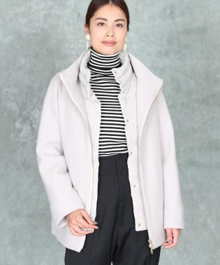 《INED international collection》ダウン付きスタンドコート