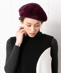 【CASSELINI】フェイクファーベレー帽