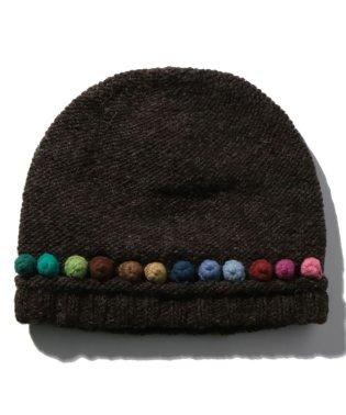 ポンポントッピングニット帽