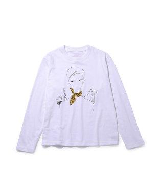 【designe par Emily Marant】プリントロングスリーブTシャツ