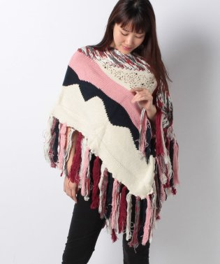 ACCESSORIES FLAT KNIT PONCHOS