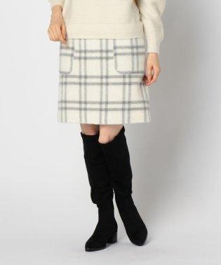 チェックビーバーポケット付スカート