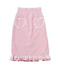 ハートポケットレースフリルタイトスカート<セットアップ対応> / mille fille closet