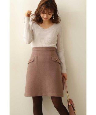 フラップ付きセミタイトスカート