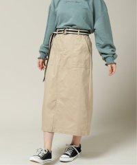 ベルト付チノタイトスカート