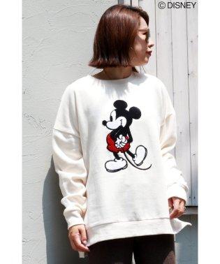 Disney(ディズニー)ミッキーサガラ刺繍裏毛トレーナー