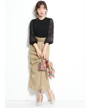 ギャザージップタイトスカート