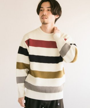 Vincent et Mireille EX CREW-NECK STRIPE SWEATER