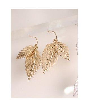 2枚葉っぱフックピアス アクセサリー レディース ピアス ギフト プレゼント 人気 女性 韓国アクセ