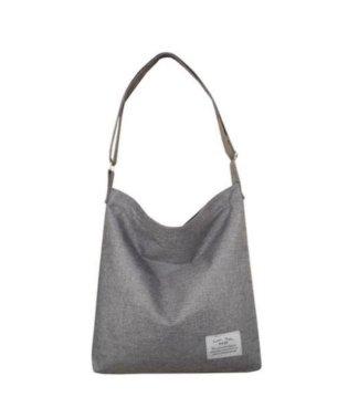 ショルダーバッグ トートバッグ 無地 シンプル グレー サブバッグ エコバッグ 長さ調節できる 韓国ファッション