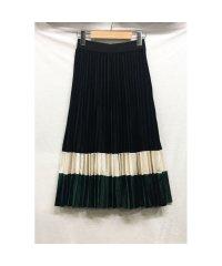 ベルベット ベロア プリーツスカート ハイウエスト Aライン 韓国ファッション