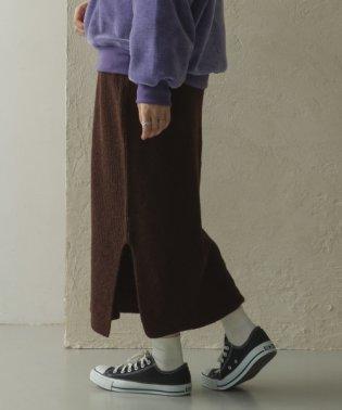 ニットタイトスリットスカート